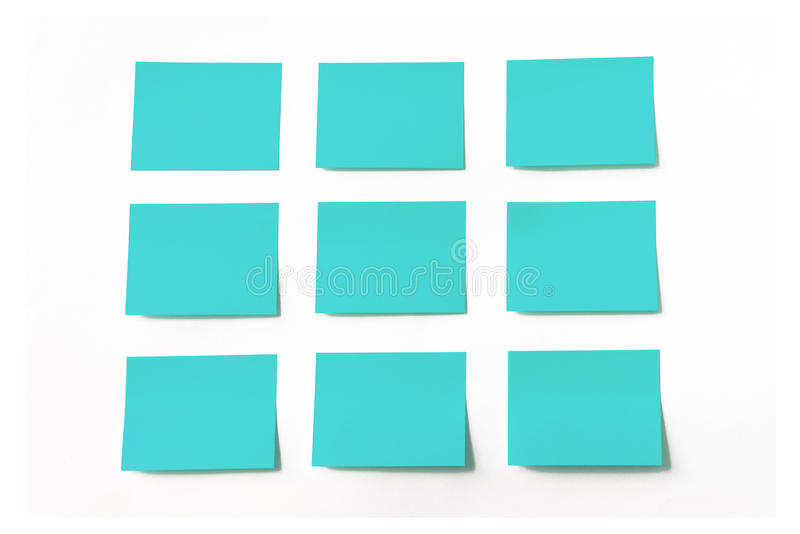 Sticky notes on white background. The sticky notes on white background royalty free stock photography