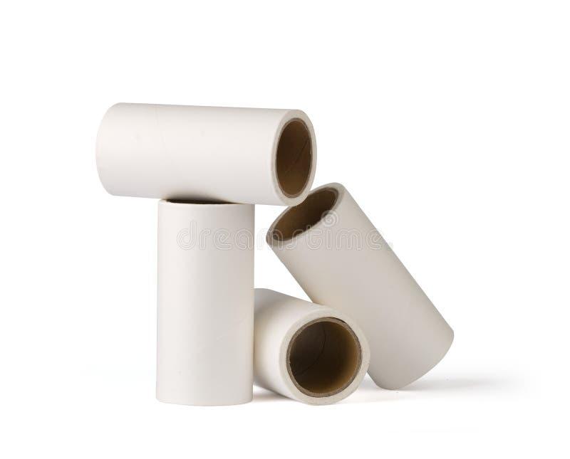 Sticky paper rolls stock photo