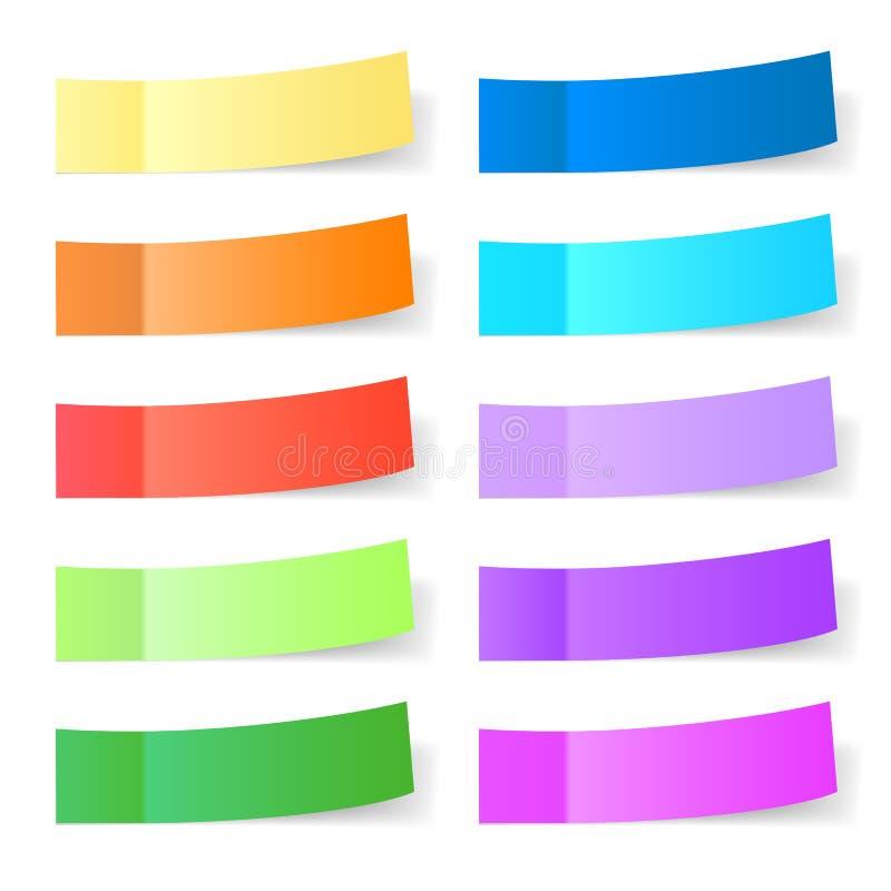 Download Sticky paper set stock vector. Illustration of transparent - 39502177