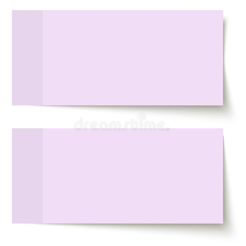 sticky papers purple vector illustration