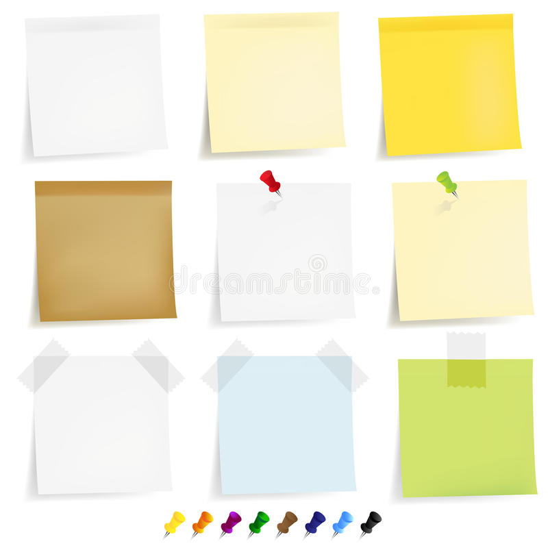 Sticky Papers Set. Vector stock illustration