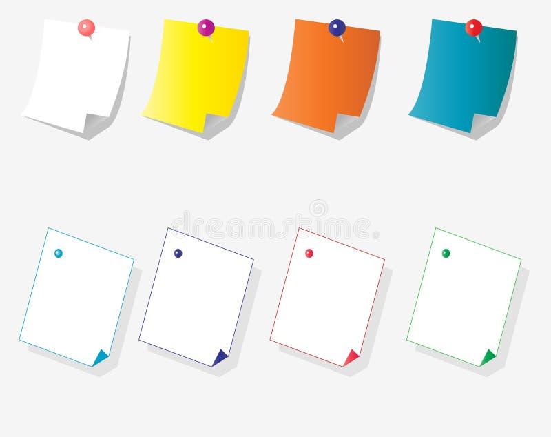 Sticky papper royalty free illustration