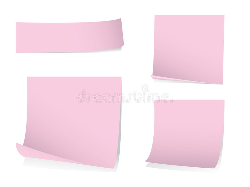 Sticky post it notes with shadows vector illustration