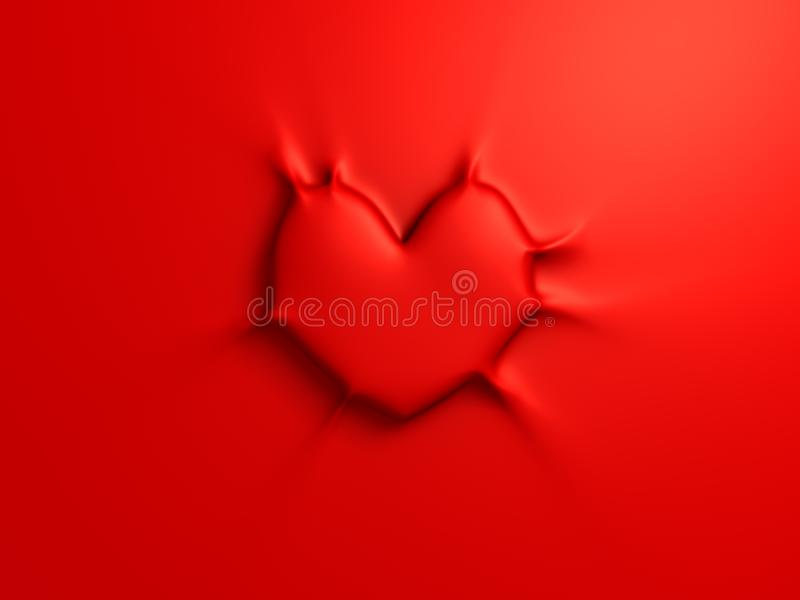 Sticky red heart royalty free stock image
