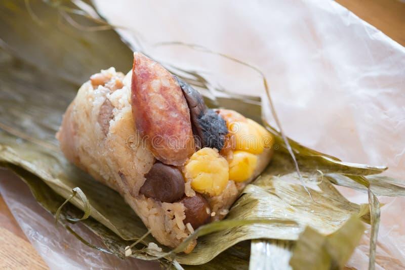 Sticky rice dumpling or Zongzi royalty free stock photo