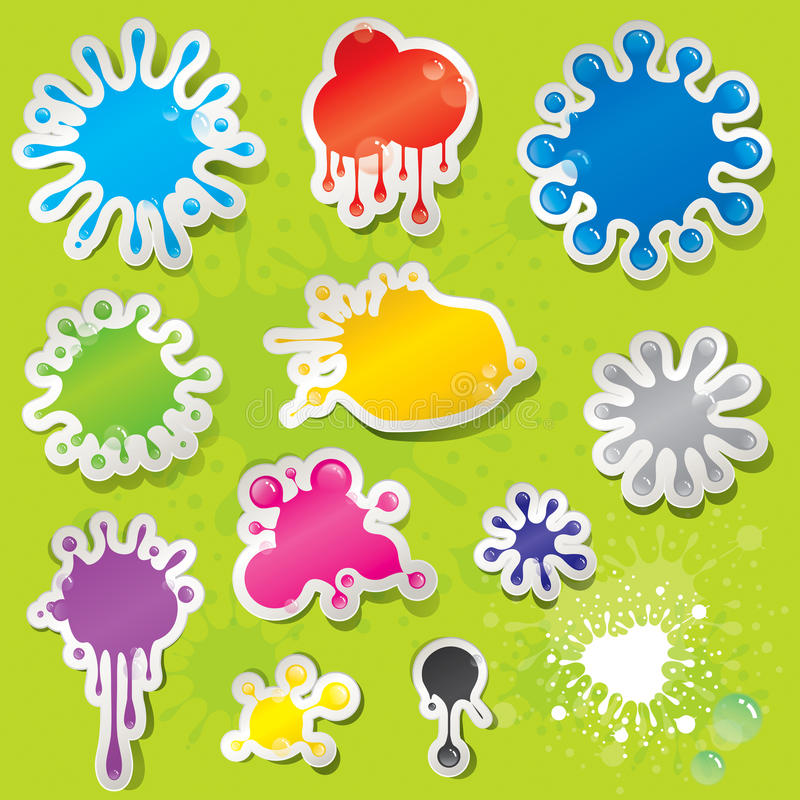 Download Sticky Splashes stock vector. Image of graphic, background - 24599762