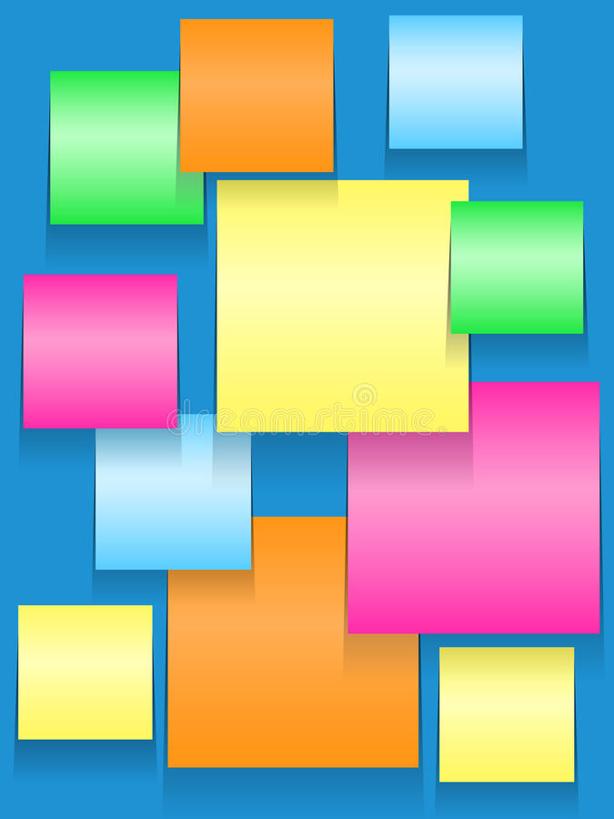 Download Sticky Squares Of Different Colors Stock Vector - Image: 34959697