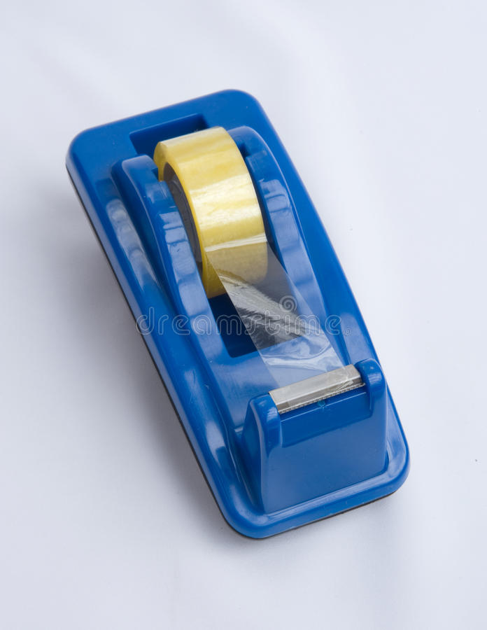 Sticky tape dispenser. royalty free stock images