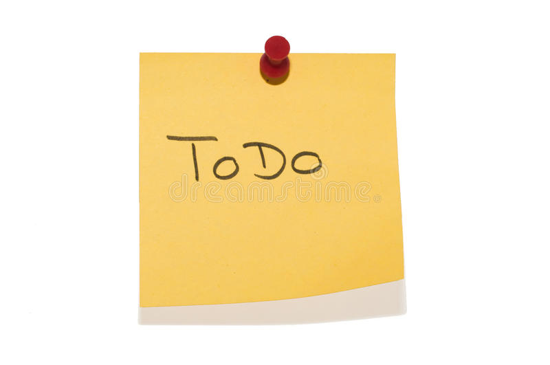 Download Sticky ToDo stock photo. Image of post, attach, pushpin - 11106198
