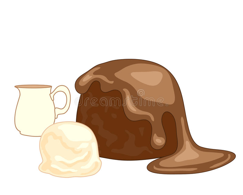 Sticky toffee pudding royalty free illustration