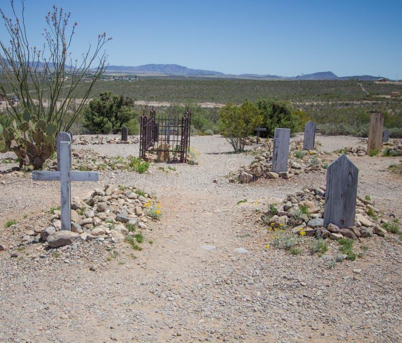 Stiefelgarten Graveyard Tombstone Arizona lizenzfreies stockfoto