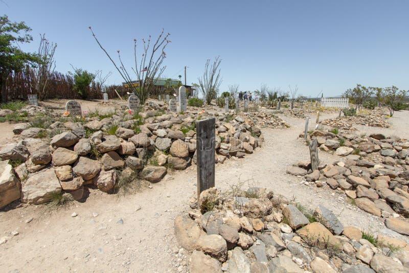 Stiefelgarten Graveyard in Tombstone Arizona stockfotografie