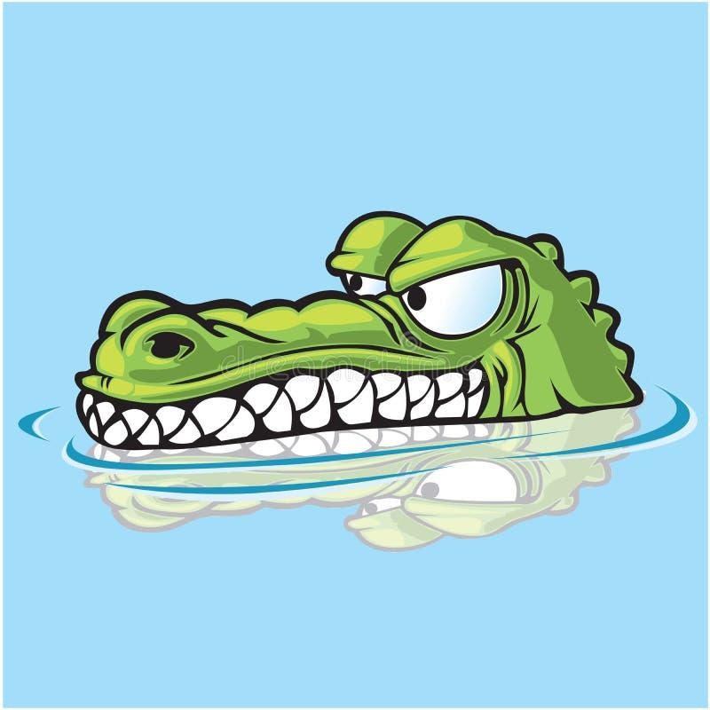 Stiekeme Gator royalty-vrije illustratie