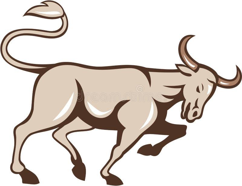 Stier die Zijbeeldverhaal laden vector illustratie