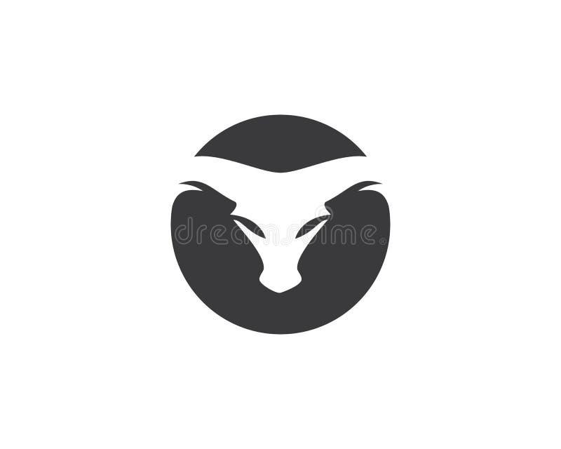 Stier Logo Template stock illustratie