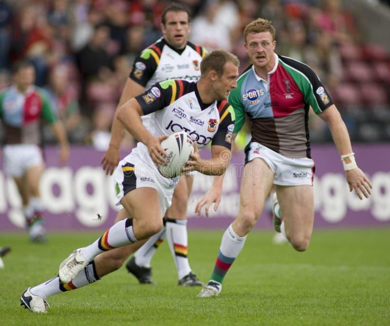 Stiere der Harlekin-Rugby-Liga-V Bradford stockfotografie