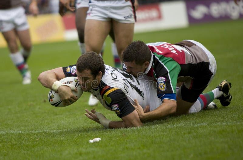 Stiere der Harlekin-Rugby-Liga-V Bradford lizenzfreies stockfoto