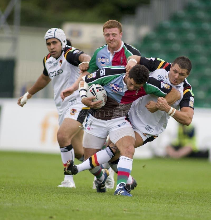 Stiere der Harlekin-Rugby-Liga-V Bradford stockfotos
