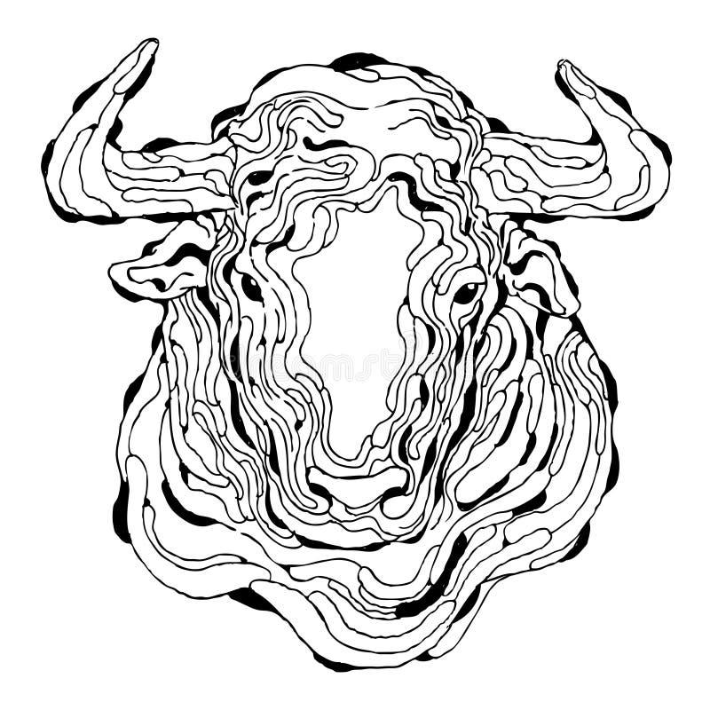 Stieren abstract art. royalty-vrije stock afbeelding