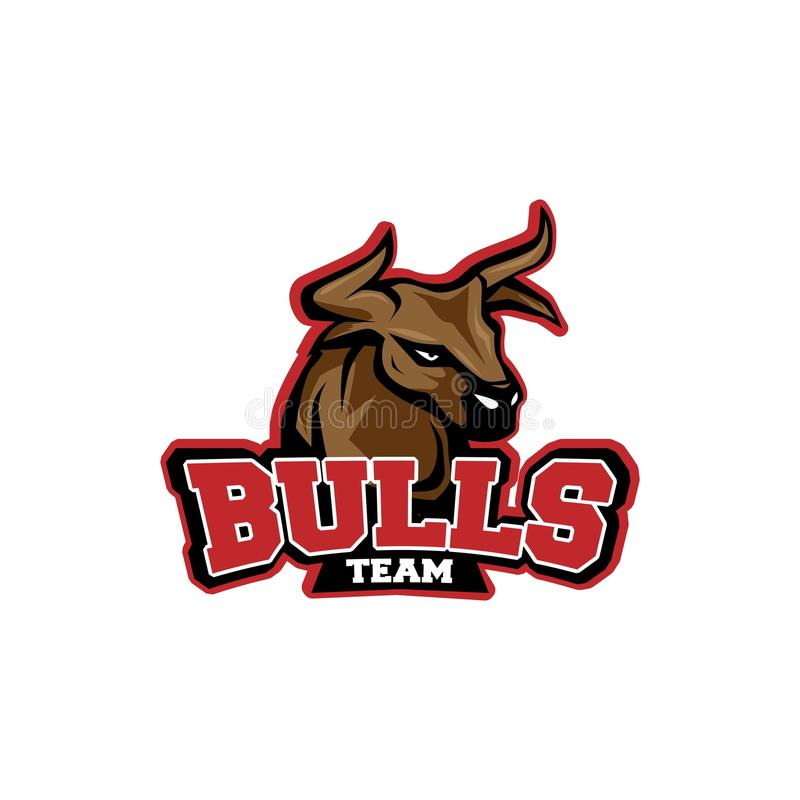 Stieren Team Logo stock foto's