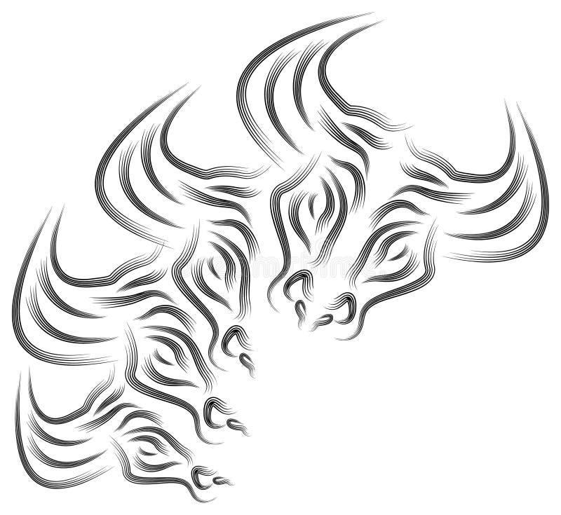 Stierenhoofd vector illustratie