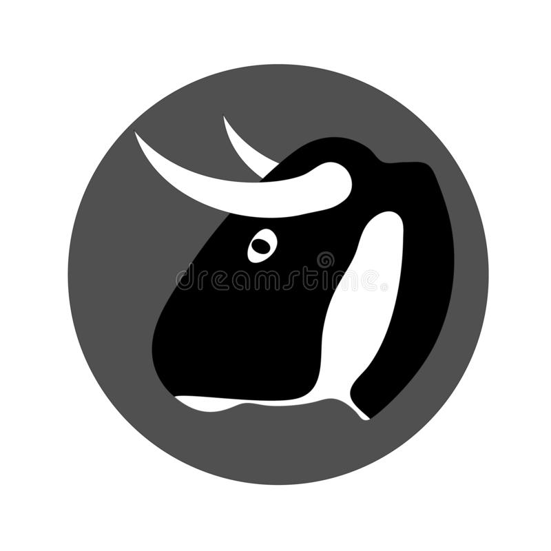 Stierenhoofd logotype stock illustratie