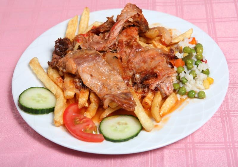 Stifado grec de lapin de taverna photos stock