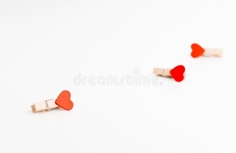 Stift för tre torkduk med hjärta Utrymme för text valentin för dag s man för begreppskyssförälskelse till kvinnan royaltyfri foto