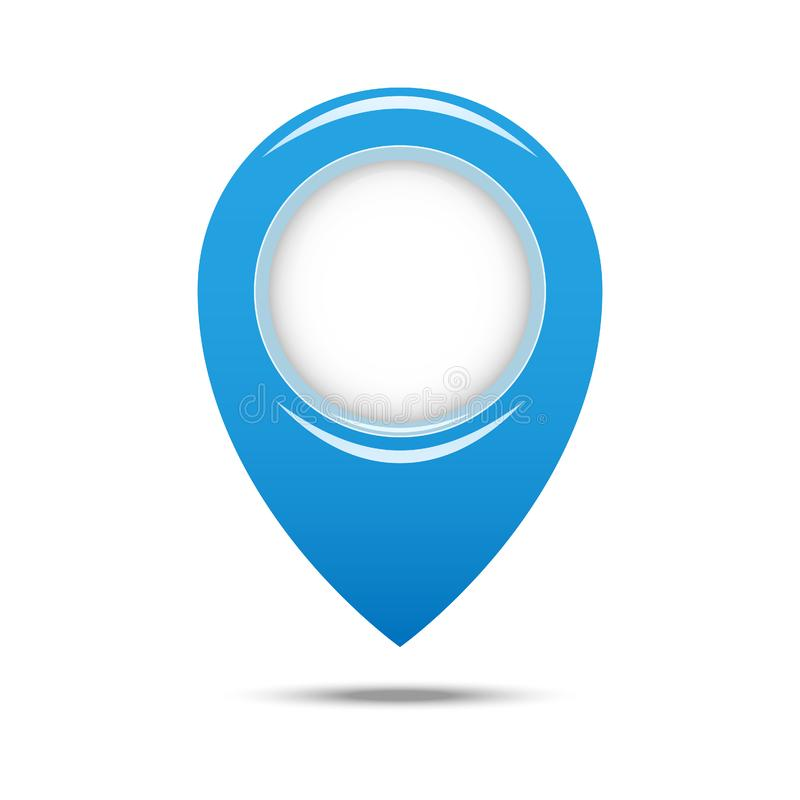 Stift-geo Standort lokalisierte Ikonendesign, Illustrationsgraphik ENV 10 lizenzfreie abbildung