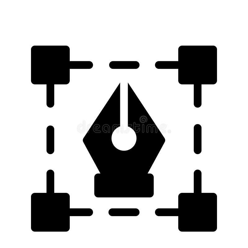 Stift Glyph-Vektorikone lizenzfreie abbildung