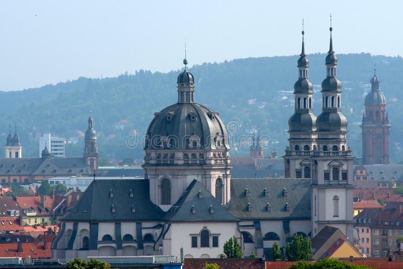 Stift Haug en Wurzburg foto de archivo libre de regalías