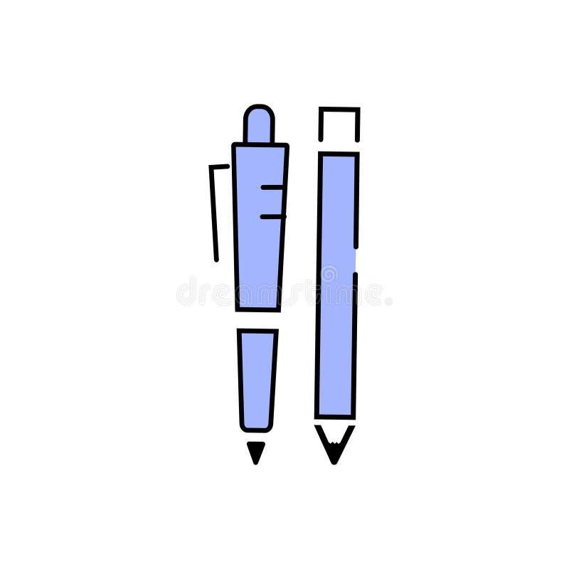 Stift-und Bleistift-Fülle-Entwurf stockfotos