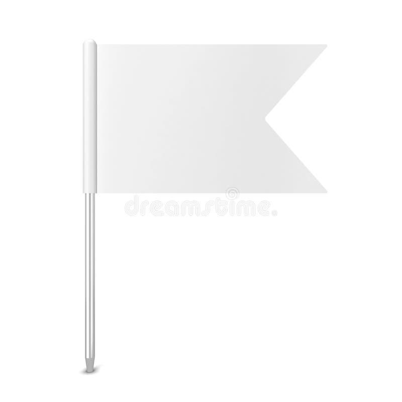 Stiftflagga royaltyfri illustrationer