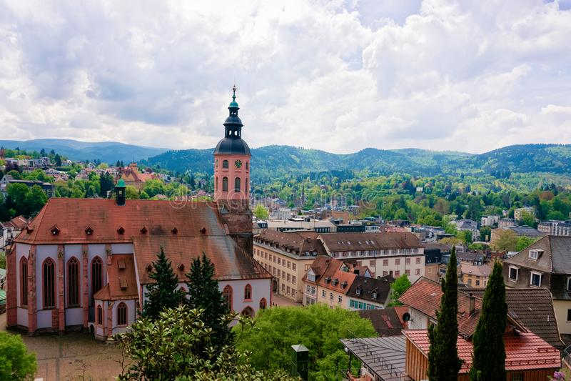Stiftskirche Collegiate church in Baden Baden of Baden Wurttemberg Germany stock images