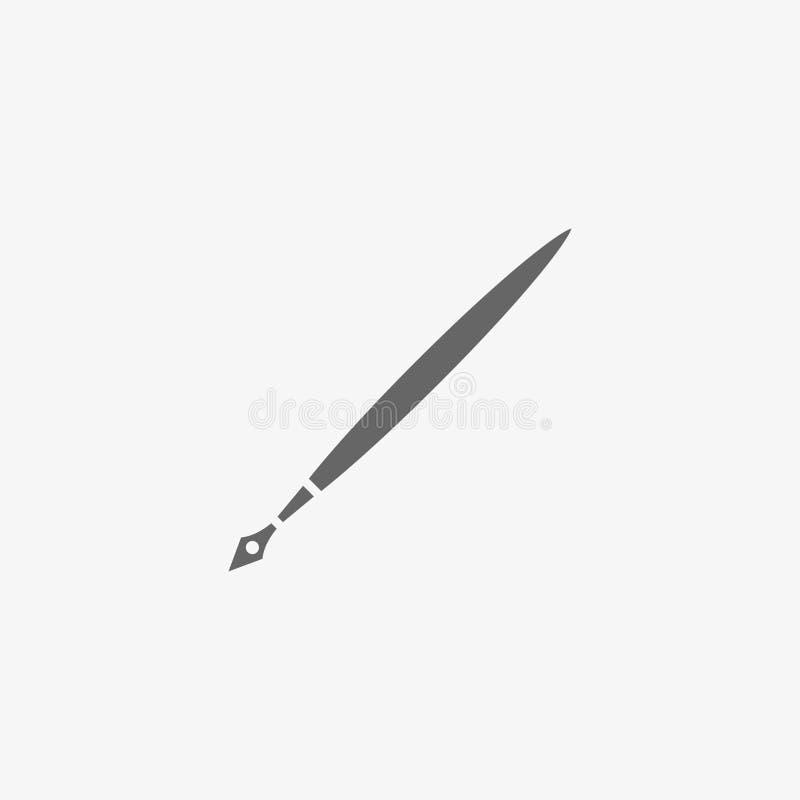 Stiftvektorikone lizenzfreie stockbilder