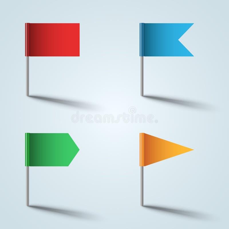 Stiftvektorn - sjunka färgsymbolen på den gråa bakgrunden stock illustrationer