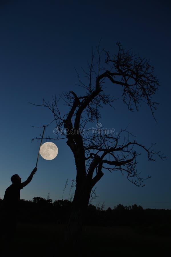 Stiga fullmånen arkivbild