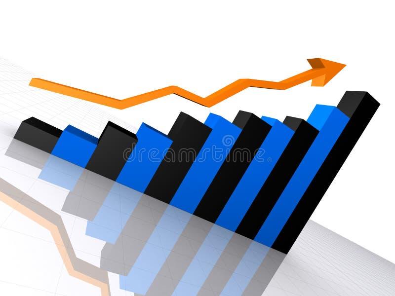 stigande statistik royaltyfri illustrationer