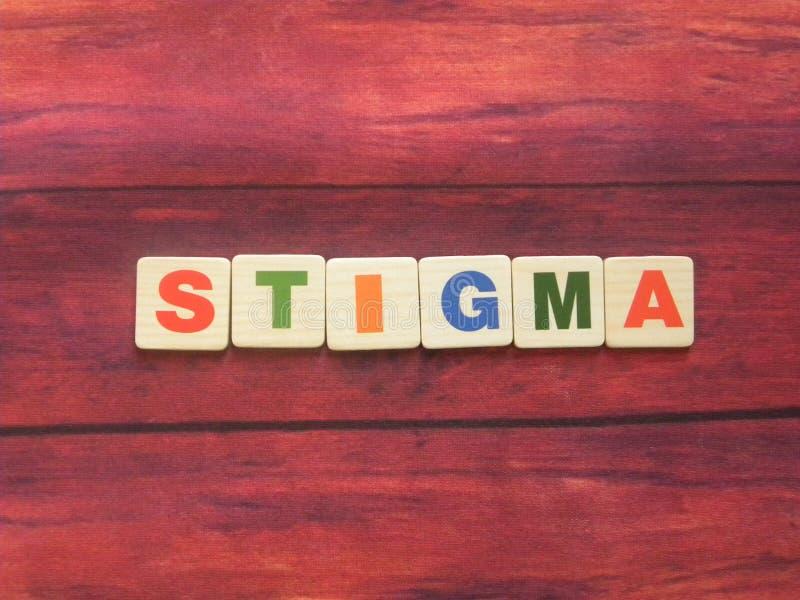 Stigma Word immagine stock libera da diritti
