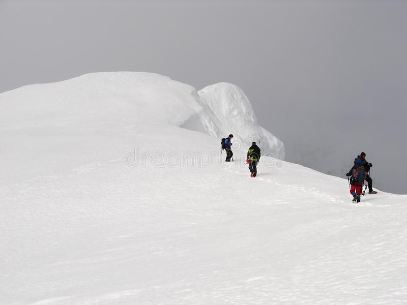 stigningbeerenberg som top vulkan arkivfoto