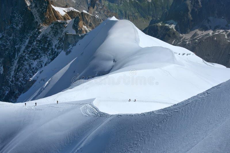 Stijgen aan de hoogten Zwitserse Alpen royalty-vrije stock afbeelding