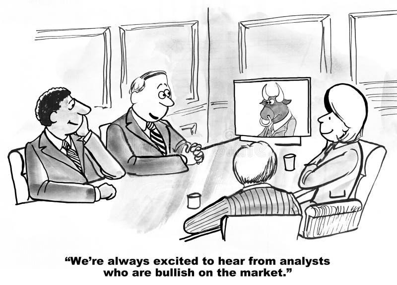 Stijgend op Effectenbeurs stock illustratie