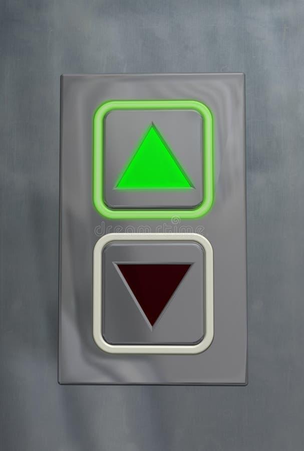 Stijgende de knoop van de lift vector illustratie