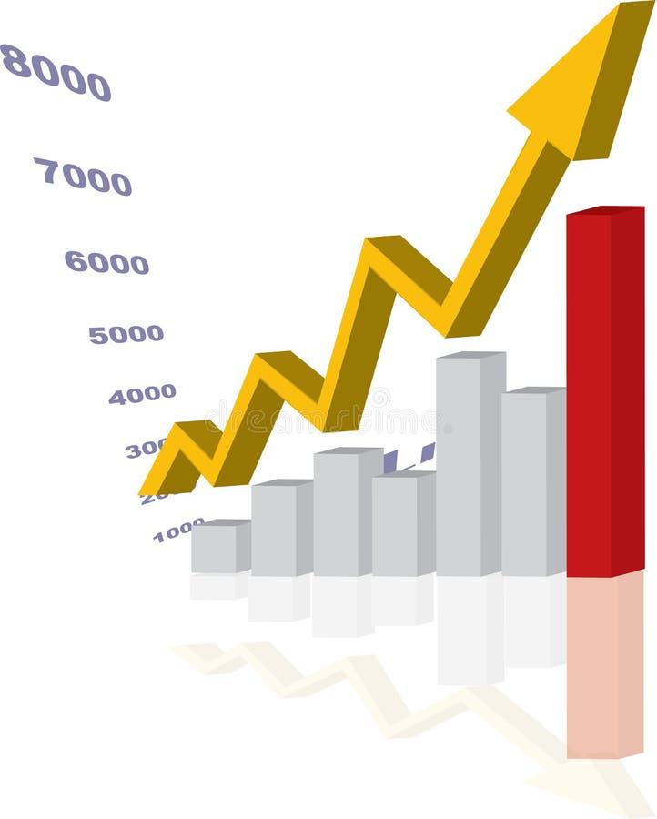 Stijgende grafiek vector illustratie