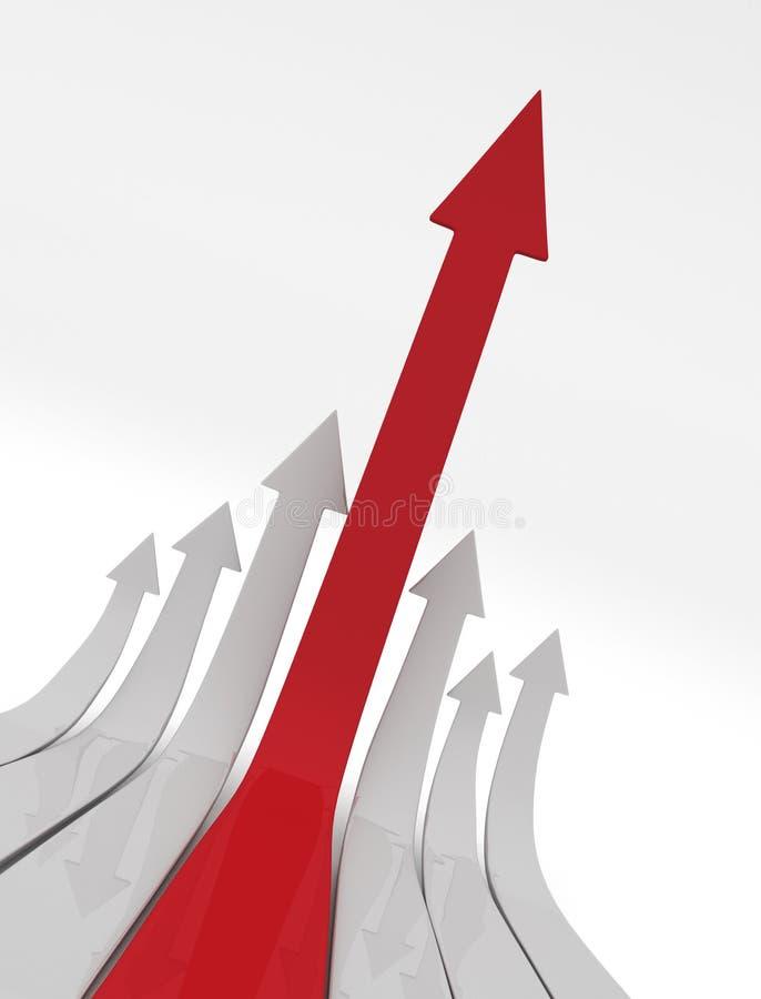 Stijgende Pijlen stock illustratie