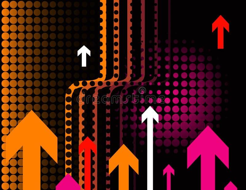 Stijgende pijlenachtergrond vector illustratie