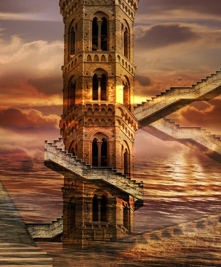 Stijgende Torens stock illustratie