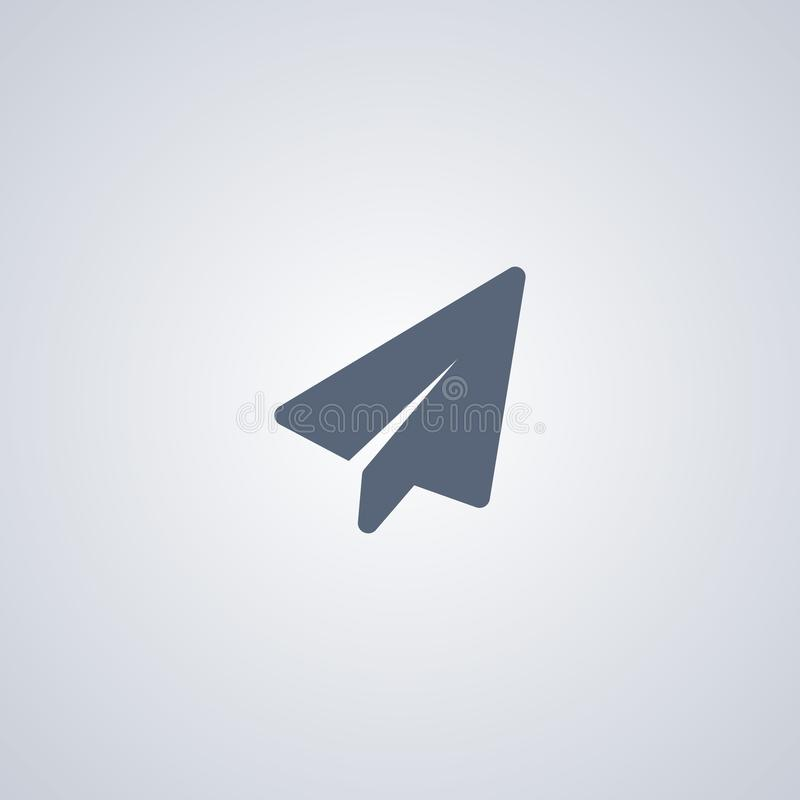 Stijging, document vliegtuig, vector beste vlak pictogram royalty-vrije illustratie