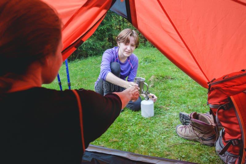Stijging en het kamperen het leven royalty-vrije stock foto's