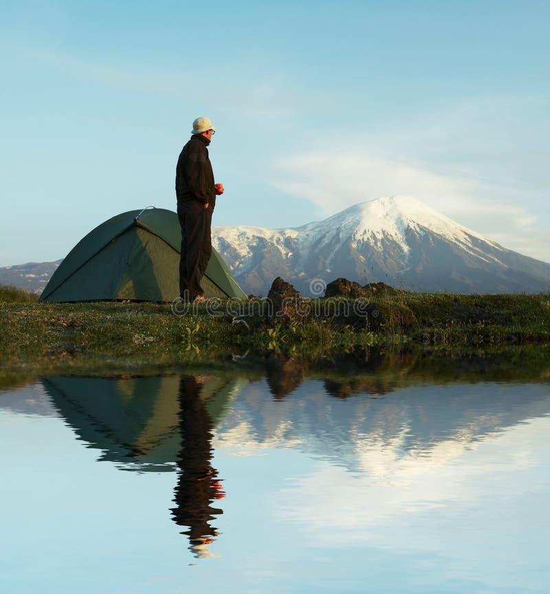 Stijging in Kamchatka stock foto
